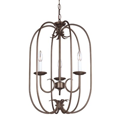 Buren 3-Light Foyer Pendant Finish: Bronze