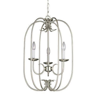Buren 3-Light Foyer Pendant Finish: Brushed Nickel