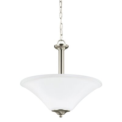 Buren 3-Light Bowl Pendant Finish: Brushed Nickel