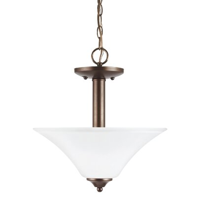 Buren 2-Light Bowl Pendant Finish: Bronze