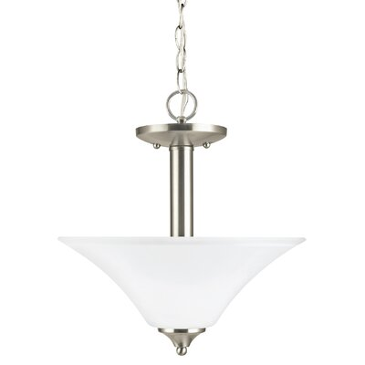 Buren 2-Light Bowl Pendant Finish: Brushed Nickel