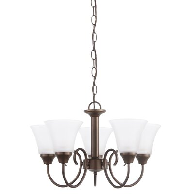 Buren 5-Light Shaded Chandelier Finish: Bronze