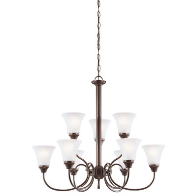 Buren 9-Light Shaded Chandelier Finish: Bronze