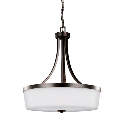 Burnley 3-Light Drum Pendant Finish: Burnt Sienna