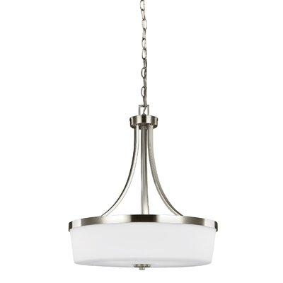 Burnley 3-Light Drum Pendant Finish: Brushed Nickel