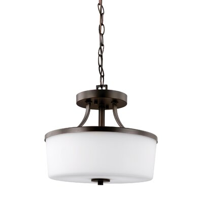 Burnley 2-Light Drum Pendant Finish: Burnt Sienna