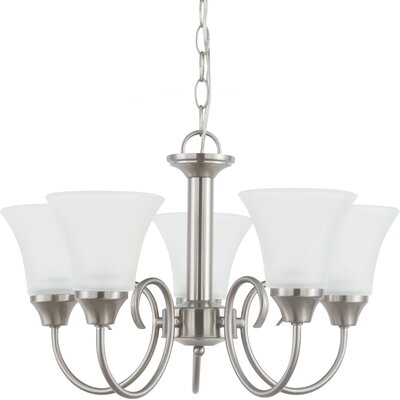 Buren 5-Light Shaded Chandelier Finish: Brushed Nickel