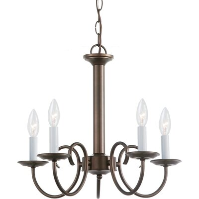 Buren 5-Light Candle-Style Chandelier Finish: Bell Metal Bronze