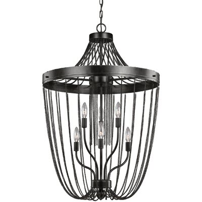 Rebekah 6-Light Bowl Shade Foyer Pendant