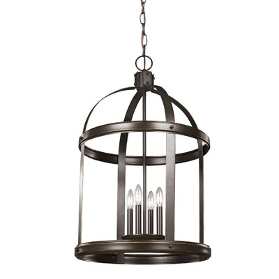 Byrdhill 4-Light Foyer Pendant Finish: Heirloom Bronze