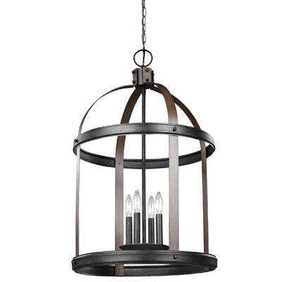 Byrdhill 4-Light Foyer Pendant Finish: Stardust