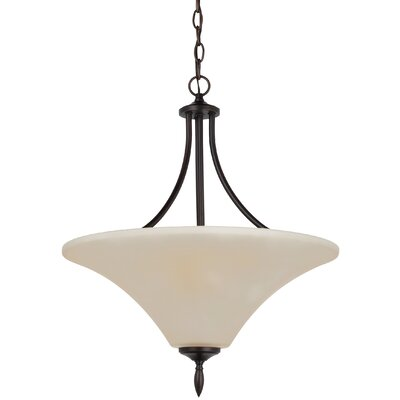Sowders 3-Light Bowl Pendant Finish: Burnt Sienna, Shade Color: Caf�