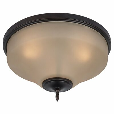 Sowders 3-Light Glass Shade Flush Mount Finish: Burnt Sienna