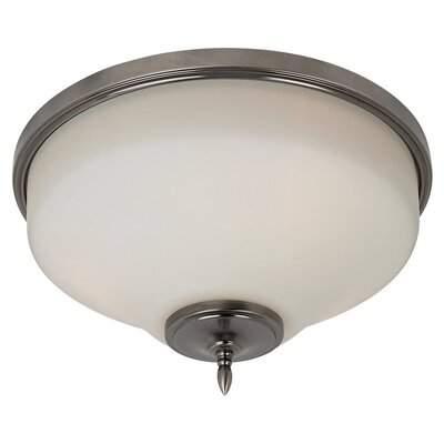 Sowders 3-Light Glass Shade Flush Mount Finish: Antique Brushed Nickel