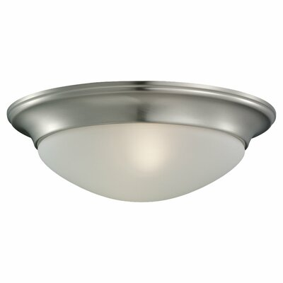 Byrnedale Flush Mount Size: 4.5 H x 14 W x 14 D, Finish: Brushed Nickel