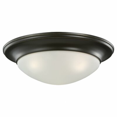 Byrnedale 1-Light Ceiling Flush Mount Finish: Heirloom Bronze, Size: 5.5 H x 16.75 W x 16.75 D