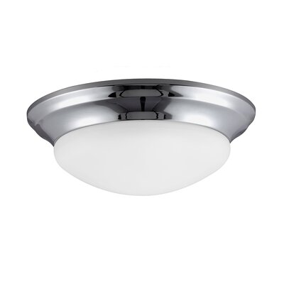 Byrnedale 1-Light Flush Mount Finish: Chrome