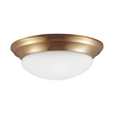 Byrnedale 1-Light Flush Mount Finish: Satin Bronze