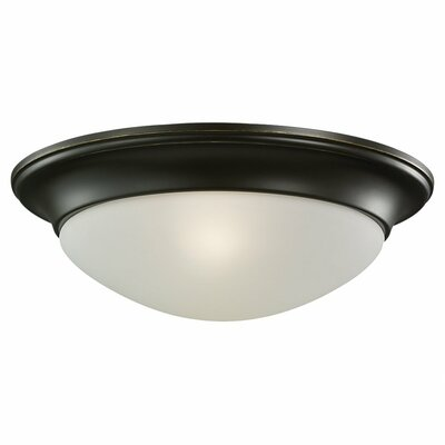Byrnedale 1-Light Ceiling Flush Mount Finish: Heirloom Bronze, Size: 4 H x 11.5 W x 11.5 D
