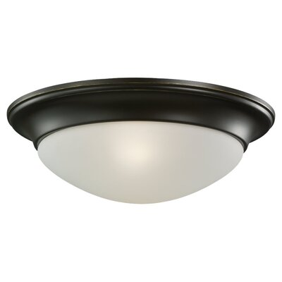 Byrnedale 1-Light Ceiling Flush Mount Finish: Heirloom Bronze, Size: 4.5 H x 14 W x 14 D