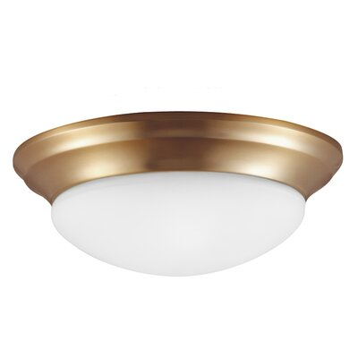 Byrnedale 1-Light Ceiling Flush Mount Size: 5.5 H x 16.75 W x 16.75 D