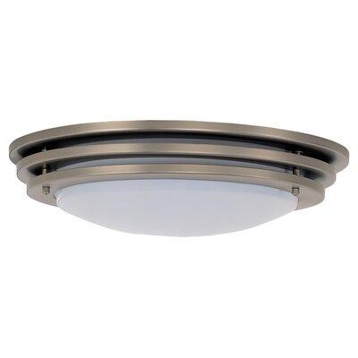 Staunton 1-Light Ceiling Flush Mount Size: 4.25 H x 20 W x 20 D