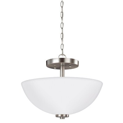 Gaskell 2-Light Bowl Pendant