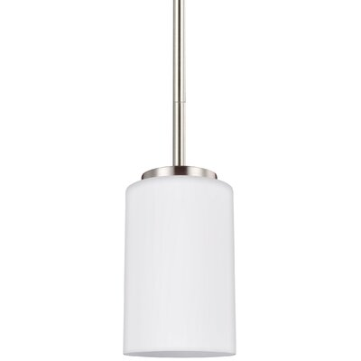 Gaskell 1-Light Mini Pendant Finish: Brushed Nickel