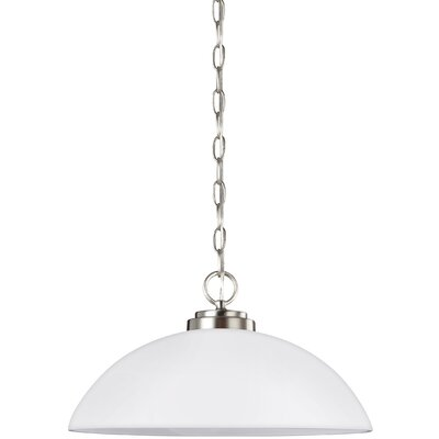Gaskell 1-Light Inverted Pendant Finish: Brushed Nickel