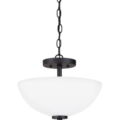 Gaskell 2-Light Bowl Pendant Finish: Blacksmith