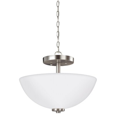 Gaskell 2-Light Bowl Pendant Finish: Brushed Nickel