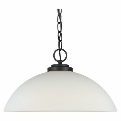 Gaskell 1-Light Foyer Pendant Bulb Type: 100W Medium, Finish: Blacksmith