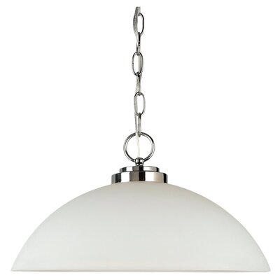 Gaskell 1-Light Foyer Pendant Finish: Chrome, Bulb Type: 100W Medium
