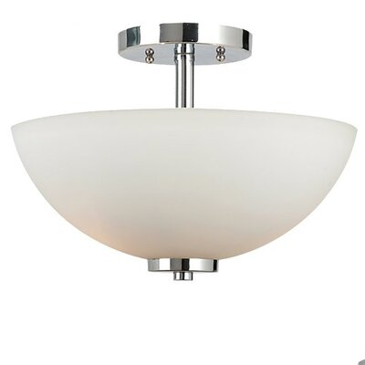 Gaskell 2-Light Semi Flush Mount Finish: Chrome, Bulb Type: 100W Medium
