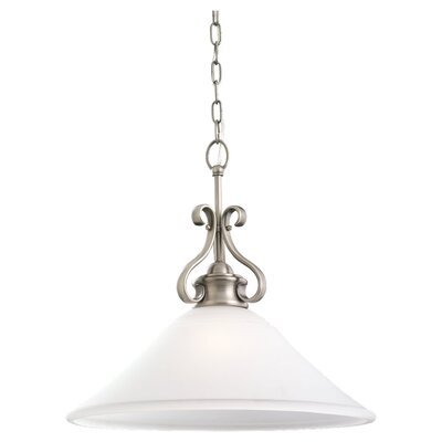 Culley 1-Light Pendant Finish: Antique Brushed Nickel, Bulb Type: Incandescent A19 150W