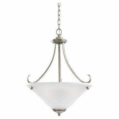 Culley 3-Light Inverted Pendant Finish: Antique Brushed Nickel