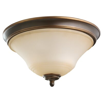 Culley 2-Light Flush Mount Finish: Russet Bronze