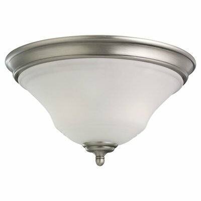 Culley 2-Light Flush Mount Finish: Antique Brushed Nickel