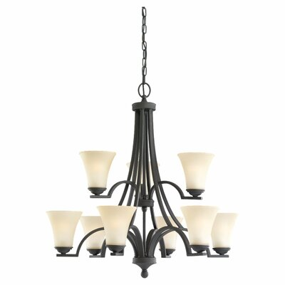 Bushmills 9-Light Shaded Chandelier Bulb Type: Incandescent A19 60W