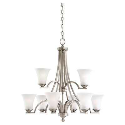 Bushmills 9-Light Shaded Chandelier