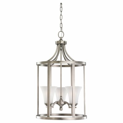 Bushmills Foyer Pendant Finish: Antique Brushed Nickel, Bulb Type: Incandescent A19 100W
