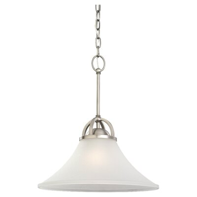 Bushmills 1-Light Pendant Finish: Antique Brushed Nickel, Bulb Type: Incandescent A19 150W