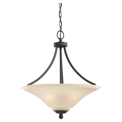 Bushmills 3-Light Inverted Pendant Finish: Blacksmith, Bulb Type: Incandescent A19 100W