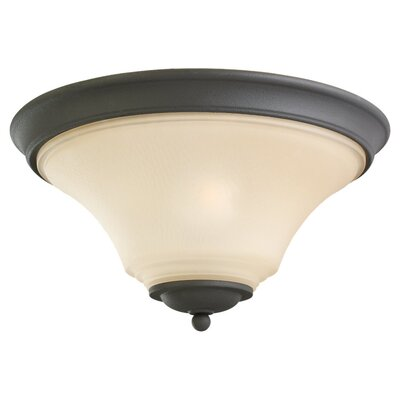 Bushmills 2-Light Flush Mount Finish: Blacksmith, Bulb Type: Incandescent A19 60W