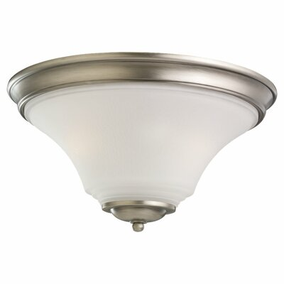 Bushmills 2-Light Flush Mount Finish: Antique Brushed Nickel, Bulb Type: Incandescent A19 60W