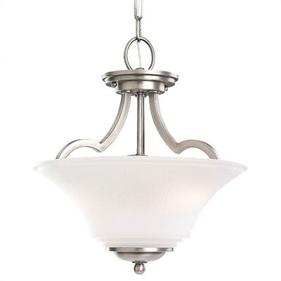 Bushmills 2-Light Convertible Inverted Pendant Finish: Antique Brushed Nickel, Bulb Type: Incandescent A19 100W