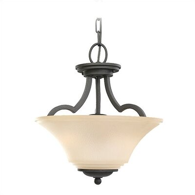 Bushmills 2-Light Convertible Inverted Pendant Finish: Blacksmith, Bulb Type: Incandescent A19 100W