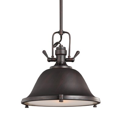 Chiaramonte 1-Light Inverted Pendant Finish: Burnt Sienna