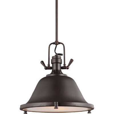 Chiaramonte 2-Light Inverted Pendant Finish: Burnt Sienna, Bulb Type: Incandescent