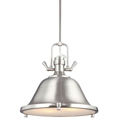 Chiaramonte 2-Light Inverted Pendant Finish: Brushed Nickel, Bulb Type: Incandescent